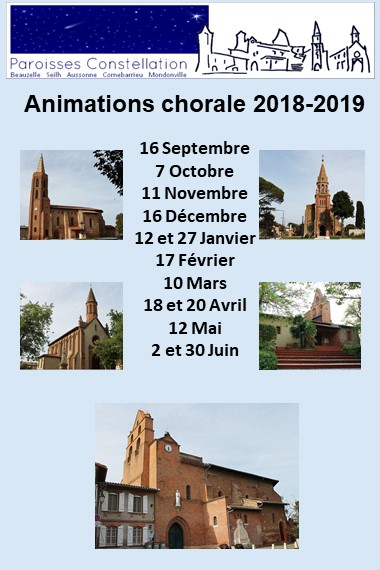 dates animations chorale 2018 2019