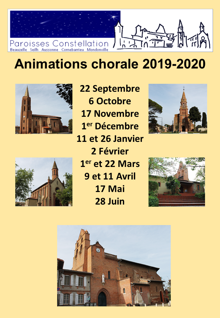 dates animations chorale 2019 2020